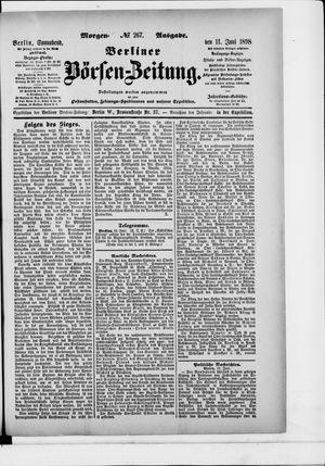 Berliner Börsen-Zeitung vom 11.06.1898