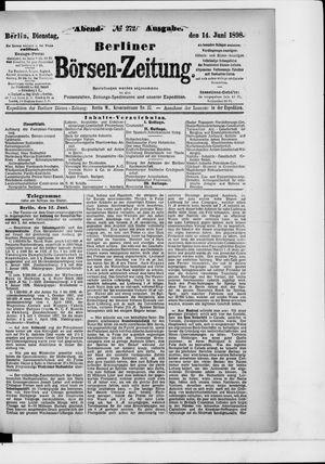 Berliner Börsen-Zeitung vom 14.06.1898