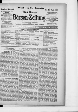 Berliner Börsen-Zeitung vom 15.06.1898