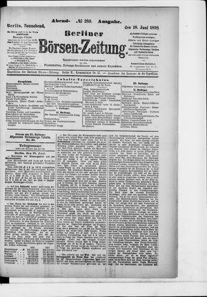Berliner Börsen-Zeitung vom 18.06.1898