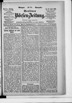 Berliner Börsen-Zeitung vom 19.06.1898