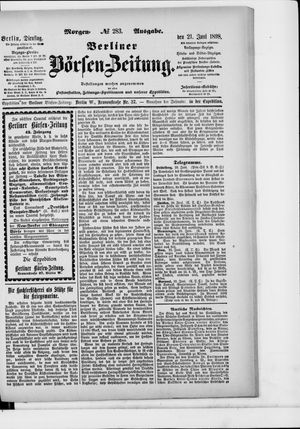 Berliner Börsen-Zeitung vom 21.06.1898