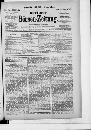 Berliner Börsen-Zeitung vom 22.06.1898