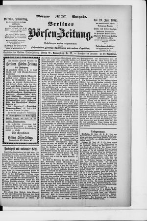 Berliner Börsen-Zeitung vom 23.06.1898