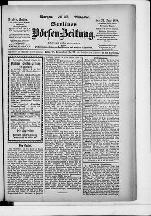 Berliner Börsen-Zeitung vom 24.06.1898