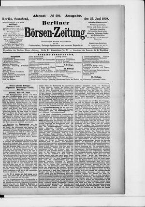 Berliner Börsen-Zeitung vom 25.06.1898