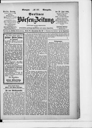 Berliner Börsen-Zeitung vom 26.06.1898