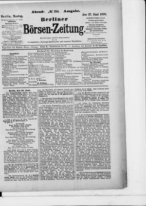 Berliner Börsen-Zeitung vom 27.06.1898