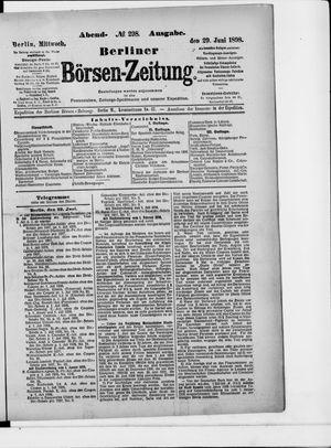 Berliner Börsen-Zeitung vom 29.06.1898