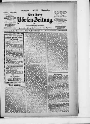 Berliner Börsen-Zeitung vom 30.06.1898