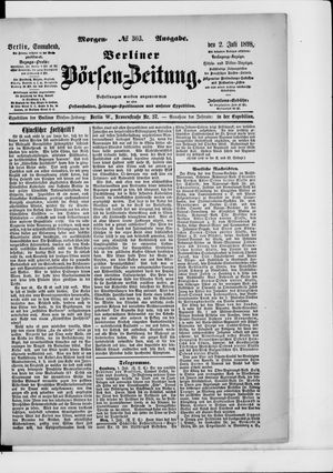 Berliner Börsen-Zeitung vom 02.07.1898