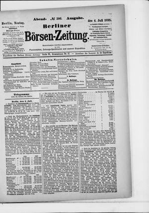 Berliner Börsen-Zeitung on Jul 4, 1898