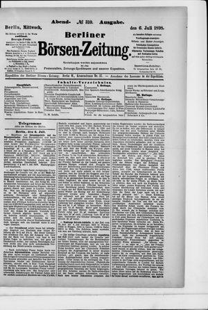 Berliner Börsen-Zeitung vom 06.07.1898