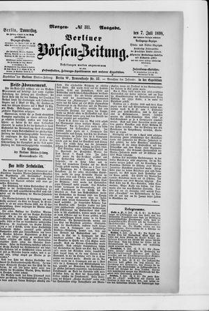 Berliner Börsen-Zeitung on Jul 7, 1898