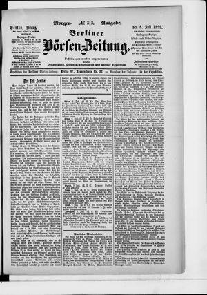 Berliner Börsen-Zeitung vom 08.07.1898