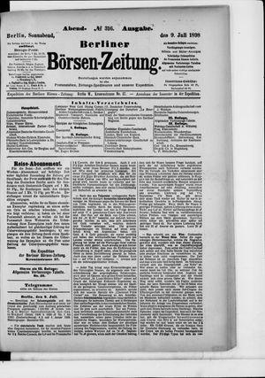 Berliner Börsen-Zeitung vom 09.07.1898