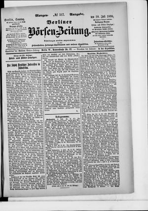 Berliner Börsen-Zeitung vom 10.07.1898