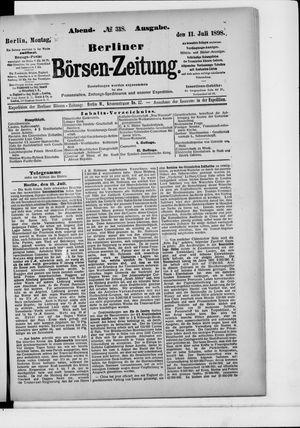Berliner Börsen-Zeitung vom 11.07.1898