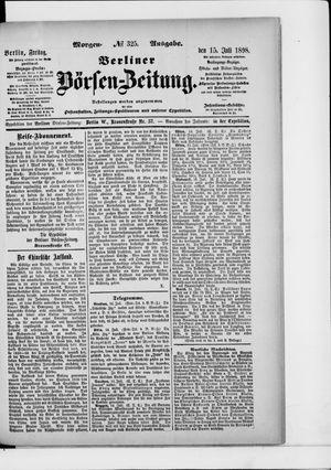 Berliner Börsen-Zeitung vom 15.07.1898
