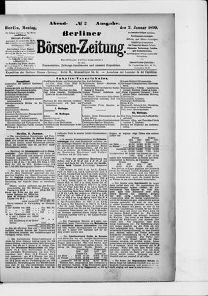 Berliner Börsen-Zeitung vom 02.01.1899
