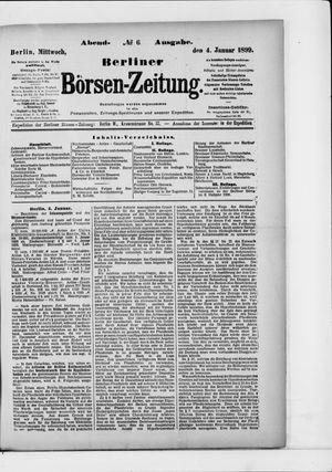 Berliner Börsen-Zeitung vom 04.01.1899