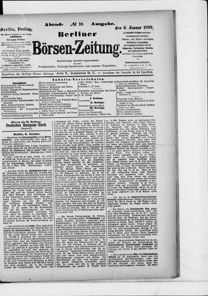 Berliner Börsen-Zeitung vom 06.01.1899