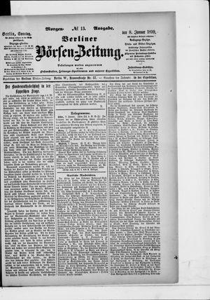 Berliner Börsen-Zeitung vom 08.01.1899