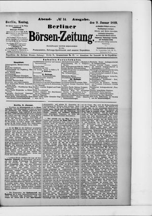 Berliner Börsen-Zeitung vom 09.01.1899