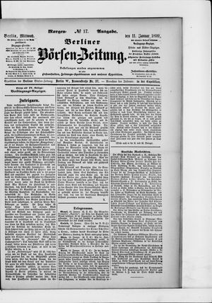 Berliner Börsen-Zeitung vom 11.01.1899
