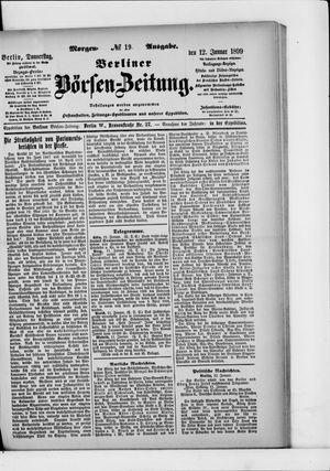 Berliner Börsen-Zeitung vom 12.01.1899