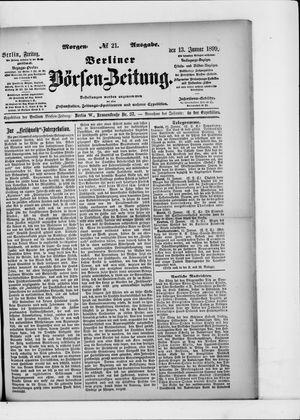 Berliner Börsen-Zeitung on Jan 13, 1899