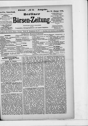 Berliner Börsen-Zeitung vom 14.01.1899