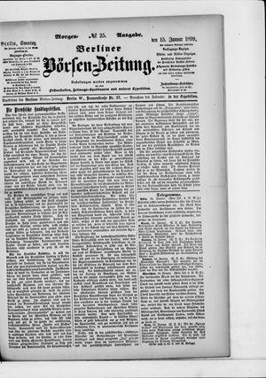 Berliner Börsen-Zeitung vom 15.01.1899