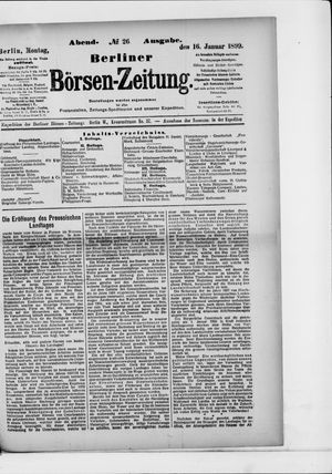Berliner Börsen-Zeitung vom 16.01.1899