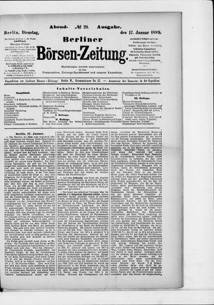 Berliner Börsen-Zeitung vom 17.01.1899