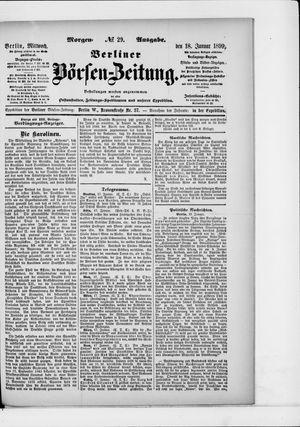 Berliner Börsen-Zeitung vom 18.01.1899