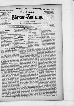 Berliner Börsen-Zeitung vom 19.01.1899