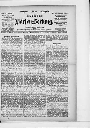 Berliner Börsen-Zeitung vom 20.01.1899