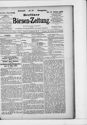 Berliner Börsen-Zeitung vom 21.01.1899