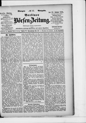 Berliner Börsen-Zeitung vom 22.01.1899