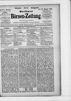 Berliner Börsen-Zeitung vom 23.01.1899