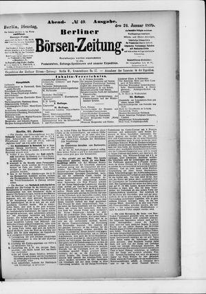 Berliner Börsen-Zeitung vom 24.01.1899
