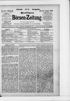 Berliner Börsen-Zeitung vom 25.01.1899