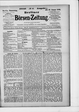 Berliner Börsen-Zeitung on Jan 26, 1899