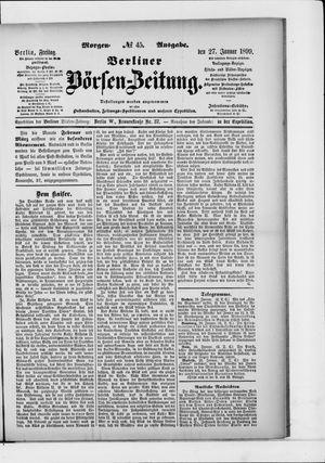 Berliner Börsen-Zeitung vom 27.01.1899