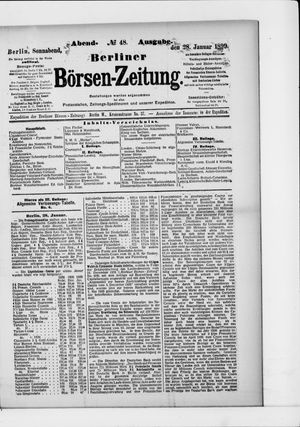 Berliner Börsen-Zeitung vom 28.01.1899