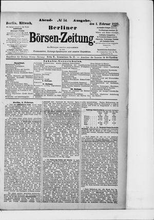Berliner Börsen-Zeitung vom 01.02.1899