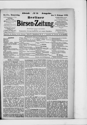 Berliner Börsen-Zeitung vom 02.02.1899