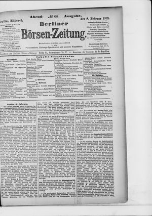 Berliner Börsen-Zeitung vom 08.02.1899