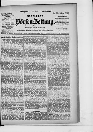 Berliner Börsen-Zeitung vom 10.02.1899